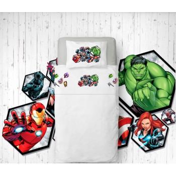 Jogo de lençóis Avengers Flanela