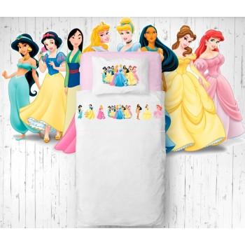 Jogo de lençóis Princesas Flanela